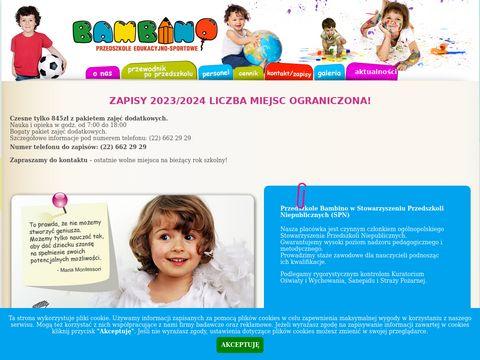 Przedszkola-bambino.pl w Warszawie