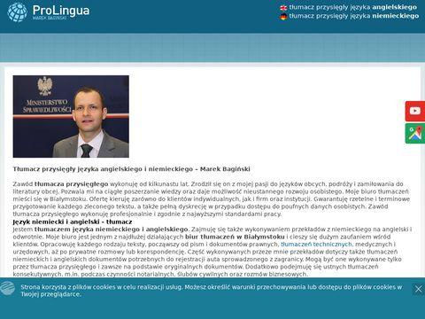 Pro Lingua biuro tłumaczeń Białystok