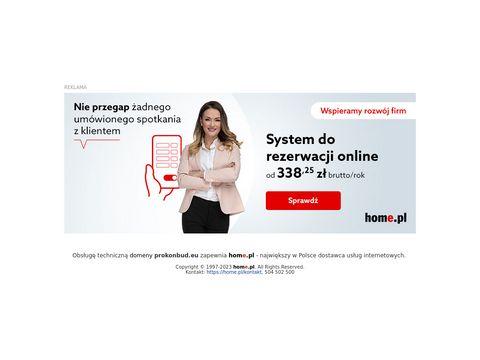 Prokonbud.eu projektowanie