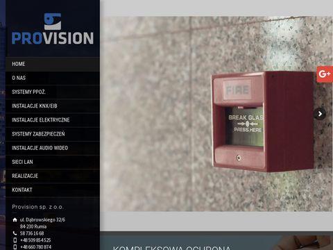 Provision instalacje sieci elektrycznych