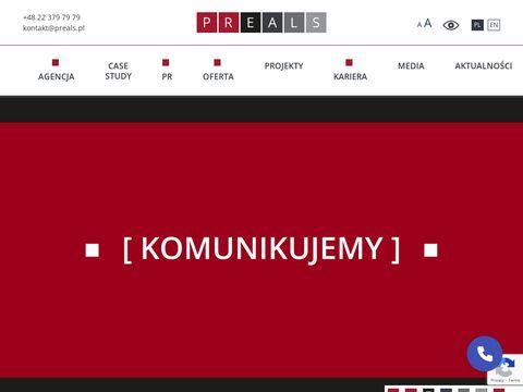 Preals.pl strony internetowe Warszawa
