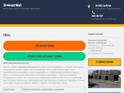 Zamow-szambo.pl betonowe