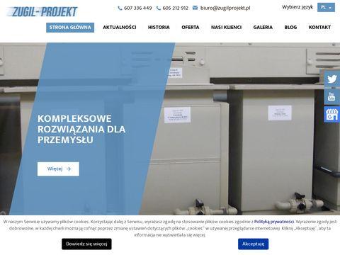 Zugil-Projekt kabiny proszkowe
