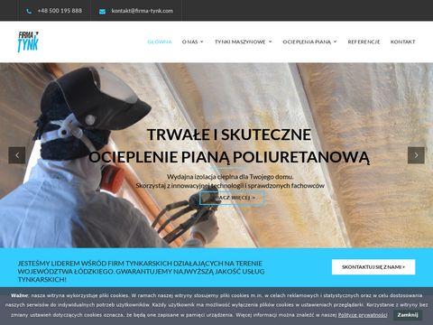 Firma Tynk tynki wewnętrzne Łódź