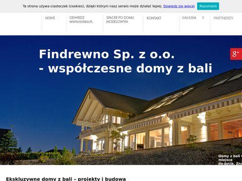 Findrewno.pl współczesne domy z bali