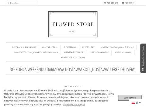 Flowerstore.pl róże w boxie Warszawa