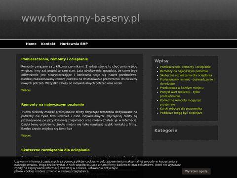 Fontanny-baseny.pl utrzymanie basenu serwis