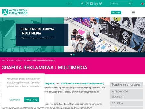 Grafika.wse.krakow.pl reklamowa i multimedialna