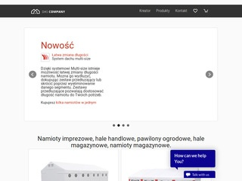 Dascompany.com - hale namiotowe