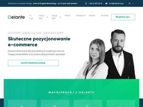 Delante.pl - pozycjonowanie stron
