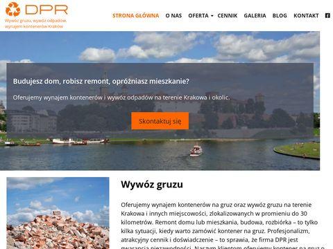 DPR Kraków kontenery na śmieci