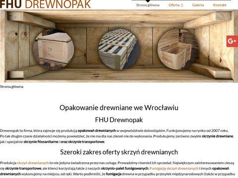 Drewnopak.eu skrzynie fumigowane