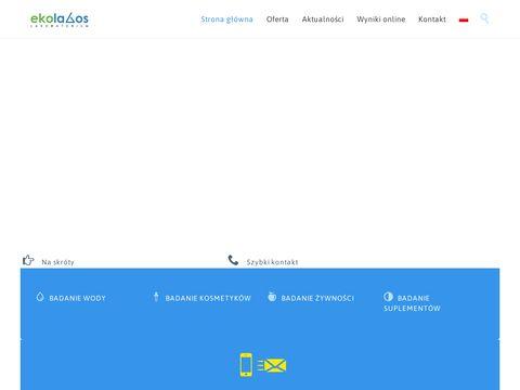 Ekolabos.pl - badanie żywności