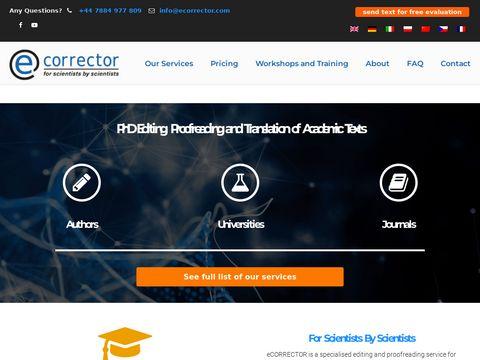 Ecorrector tłumaczenia specjalistyczne