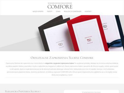 Comfore.pl oryginalne zaproszenia ślubne