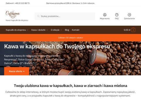 Cafessima.pl kapsułki do kawy