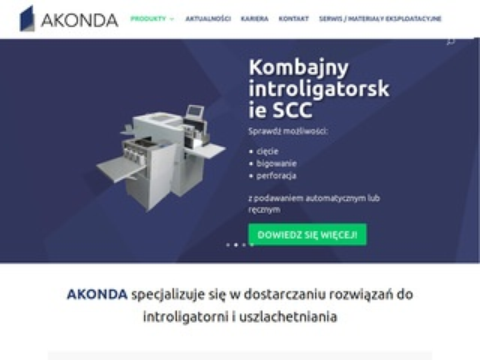 Akonda.pl maszyny introligatorskie
