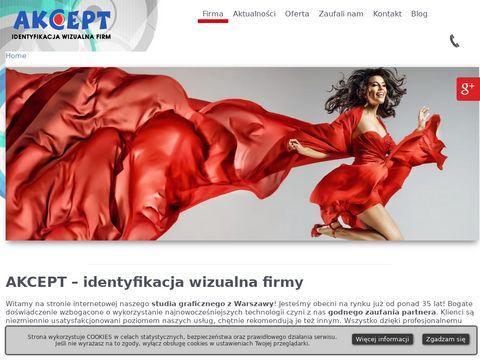 Akcept.com.pl litery 3D Warszawa