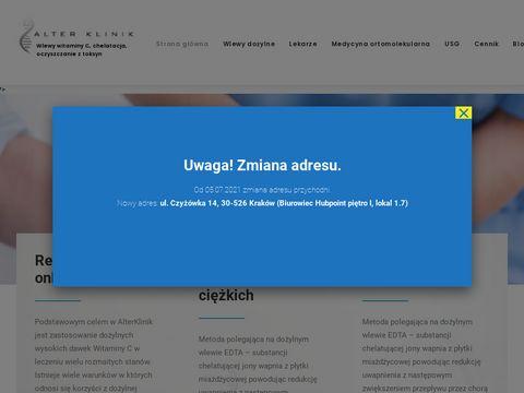 Alterklinik.pl witamina c dożylnie Kraków