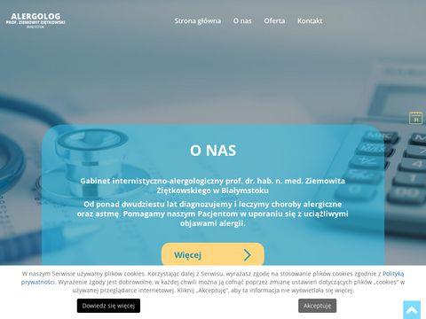 Alergologbialystok.com.pl Ziemowit Ziętkowski