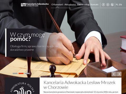 Lesław Mrozek obsługa prawna Chorzów