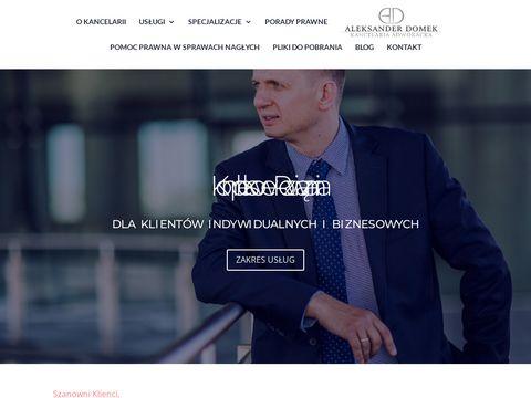 Adwokatdomek.pl kancelaria adwokacka