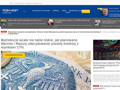Adinvest.com.pl wiadomości gospodarcze