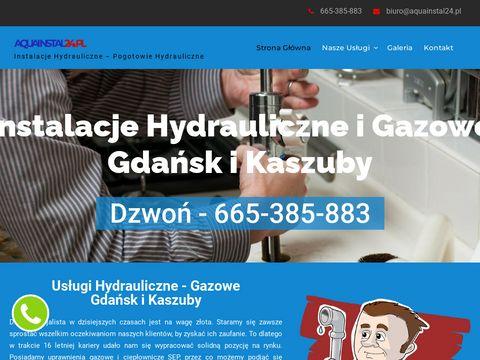 Aquainstal24.pl dobry hydraulik Gdańsk