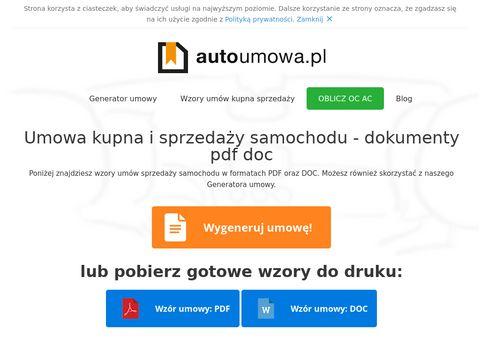 Autoumowa.pl - sprzedaż kupno auta