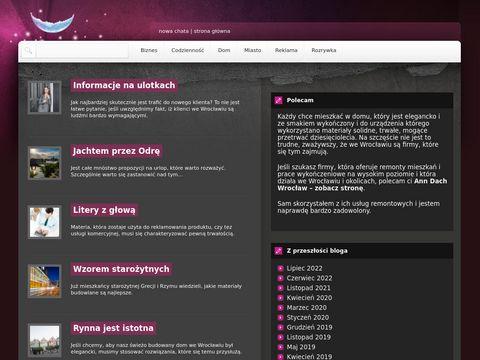 Nowachatawroclaw.pl izolacje natryskowe Wrocław