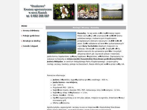 Tani nocleg nad jeziorem - Kaszuby