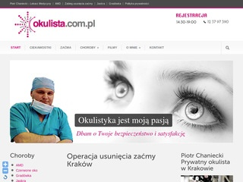 Chaniecki - prywatny okulista Kraków