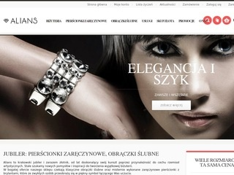 Obraczki.net.pl sklep jubilerski Alians