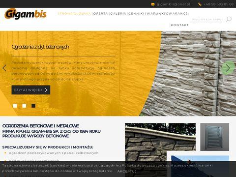 Ogrodzenia betonowe bloczek łupany