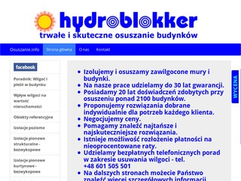 Hydroblokker osuszanie budynków