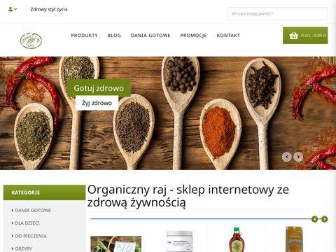 Organicznyraj.pl jedzenie ekologiczne