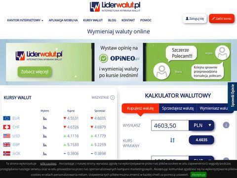 LiderWalut.pl - kantor online