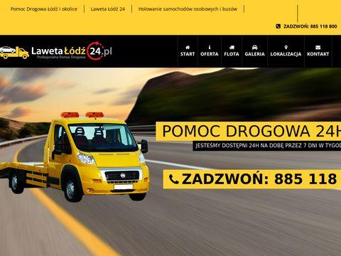 Lawetalodz24.pl - pomoc drogowa