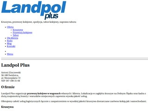 Landpol sp. z o.o. kruszywo łamane