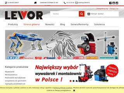Lewor.pl wyposażenie serwisu ogumienia