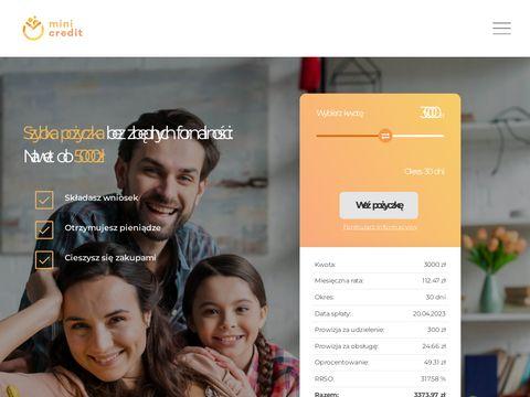 Mini-credit.pl szybkie pożyczki
