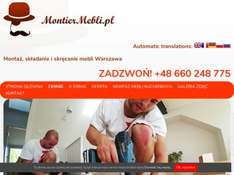 Montiermebli.pl składanie mebli black red white