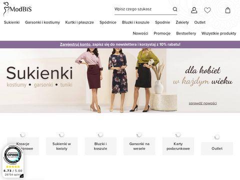 Modbis.pl sukienki dla puszystych