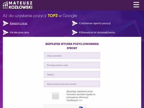 Mateuszkozlowski.pl specjalista SEO