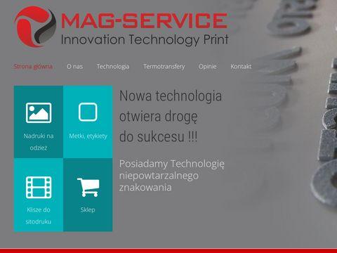 Mag-service.pl nadruki na koszulkach Wrocław