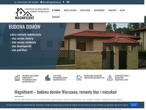 Magnificent.pl budowa domów jednorodzinnych