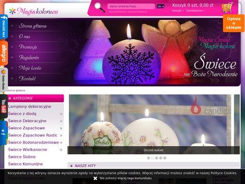 Świece dekoracyjne, magiakoloru.eu
