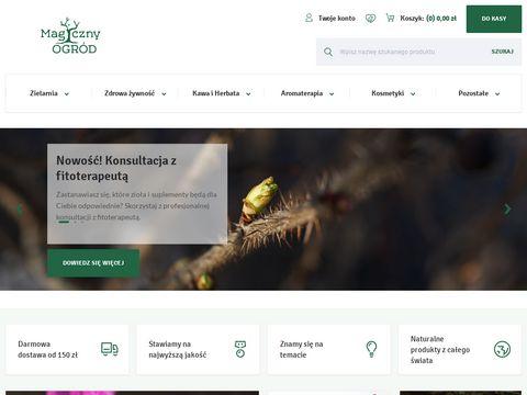 Magicznyogrod.pl internetowy sklep etnobotaniczny