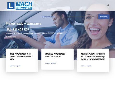MACH - nauka jazdy Warszawa