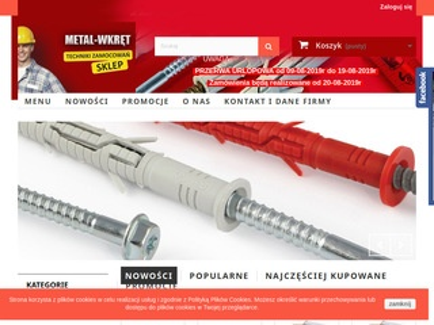 Metal-Wkręt śruby podkładowe